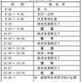 後期選抜の検査時間割