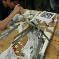 岩倉高等学校・鉄道模型部の生徒たちによるジオラマ制作(イメージ)