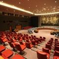 国連安全保障理事会が開かれる部屋