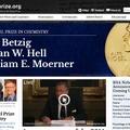 ノーベル賞、Webサイト