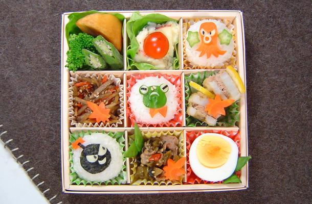 【宮澤真理のキャラ弁】菓子箱を工夫して、行楽弁当
