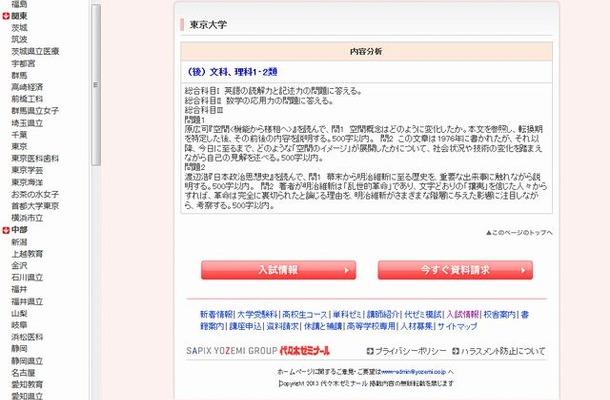 東京大学の小論文内容分析