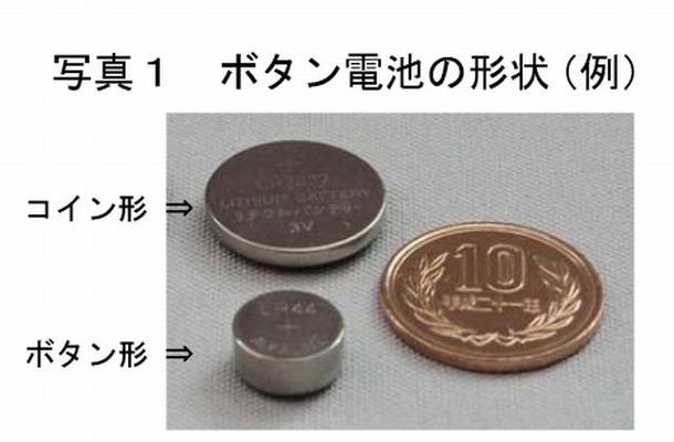 ボタン電池の形状(例)