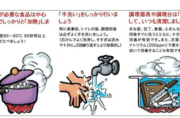 内閣府 食品安全委員会「ノロウイルスの予防と消毒方法のポイント」