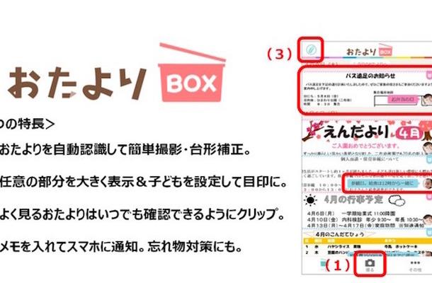おたよりBOX サービス特長