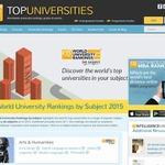 分野別QS世界大学ランキング2015、東大は6分野でトップ10入り
