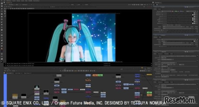 「HATSUNE MIKU×TETSUYA NOMURA」より (c) SQUARE ENIX CO., LTD./Crypton Future Media, INC. DESIGNED BY TETSUYA NOMURA