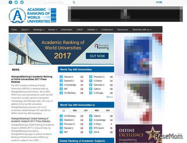 ARWU World University Rankings 2017  Academic Ranking of World Universities
