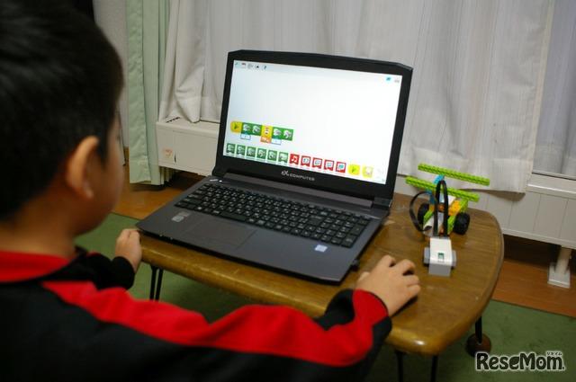 ノートPCでLEGO WeDoのプログラミング