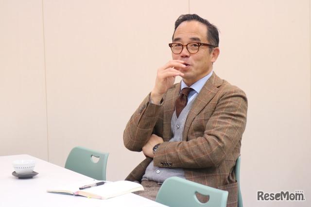 「花まる学習会」代表の高濱正伸氏。「花丸学習会」は、子どもたちを「メシが食える大人」「魅力的な人」に育てることを教育理念に、11都道府県で開校している学習塾