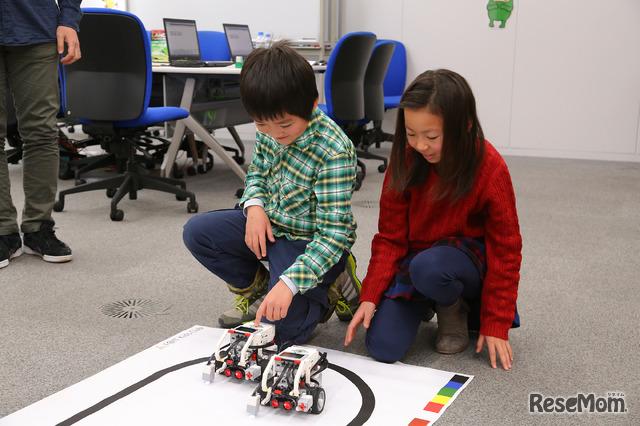 「速さをプログラミングしてどちらが速いか競争したい!」やりたいこともどんどん広がる(F@IT Kids Club体験会)