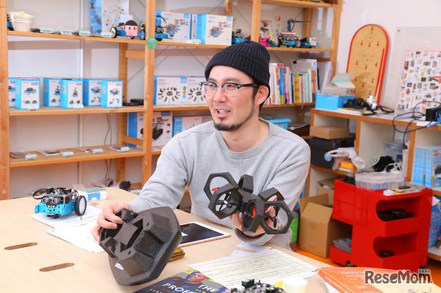 プログラミング教育の魅力をを語るアザイ・コミュニケーションズ代表取締役 久木田寛直氏