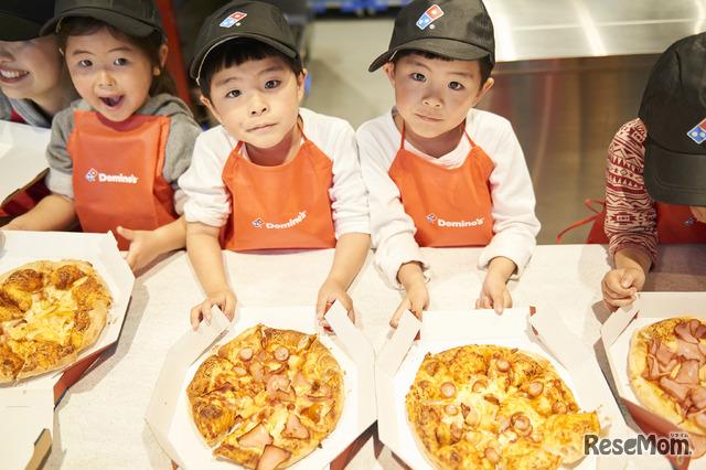 世界に一枚のオリジナルピザが完成!