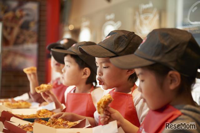 みんなでわいわいピザパーティー!