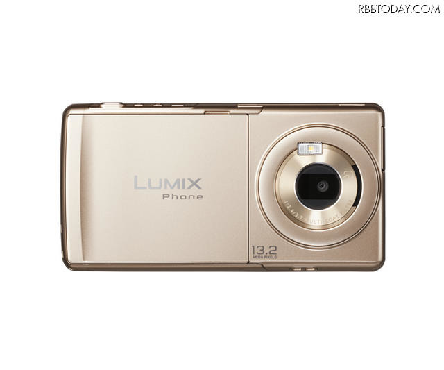 「LUMIX Phone P-02D」Gold