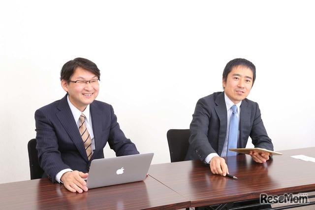 副校長の梅澤俊秀氏と英語教諭の谷澤信司氏
