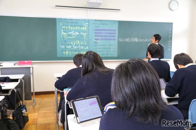 英語の授業でBrain+を活用(千葉明徳中学校・高等学校)