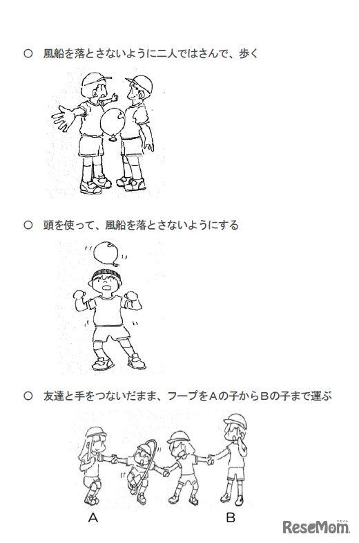 体ほぐしの運動あそび(2) 画像提供:川村幸久