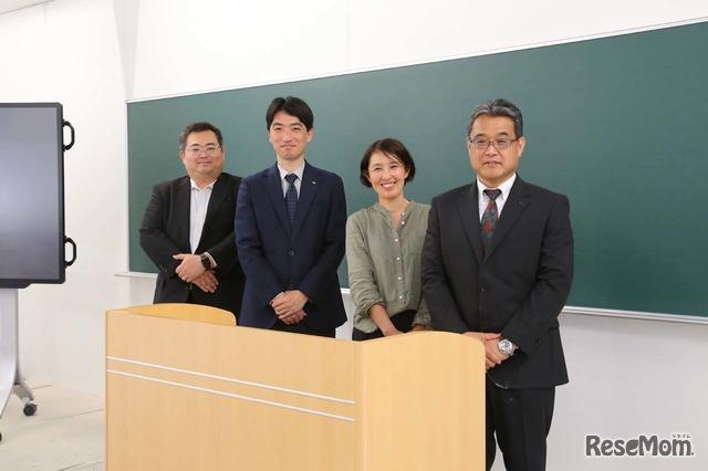 左から、メディアオーパスプラスの圓林真吾氏、学研プラスの難波大樹氏、永野初美、金谷敏博氏