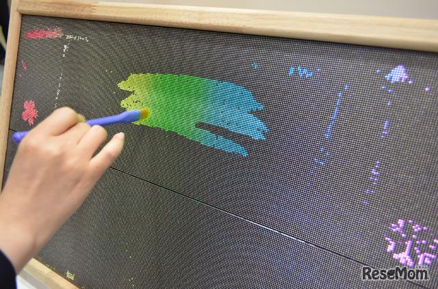 第9回教育ITソリューションEXPO:テクニカルアーティスト「電光こども黒板」