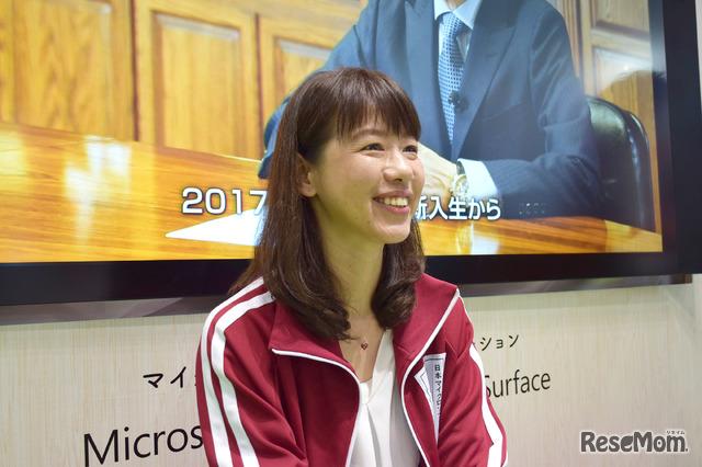 「子どもたちの学び方改革」と「教職員の働き方改革」について語る日本マイクロソフトの土屋奈緒子氏
