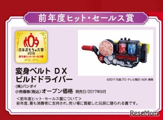 日本おもちゃ大賞2018 前年度ヒット・セールス賞