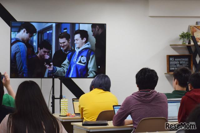 N高 特別授業「Netflixオリジナルシリーズ『13の理由』で考えるSNS世代の高校生が抱える悩み ~その時あなたならどうする?~」のようす(2018年6月27日)