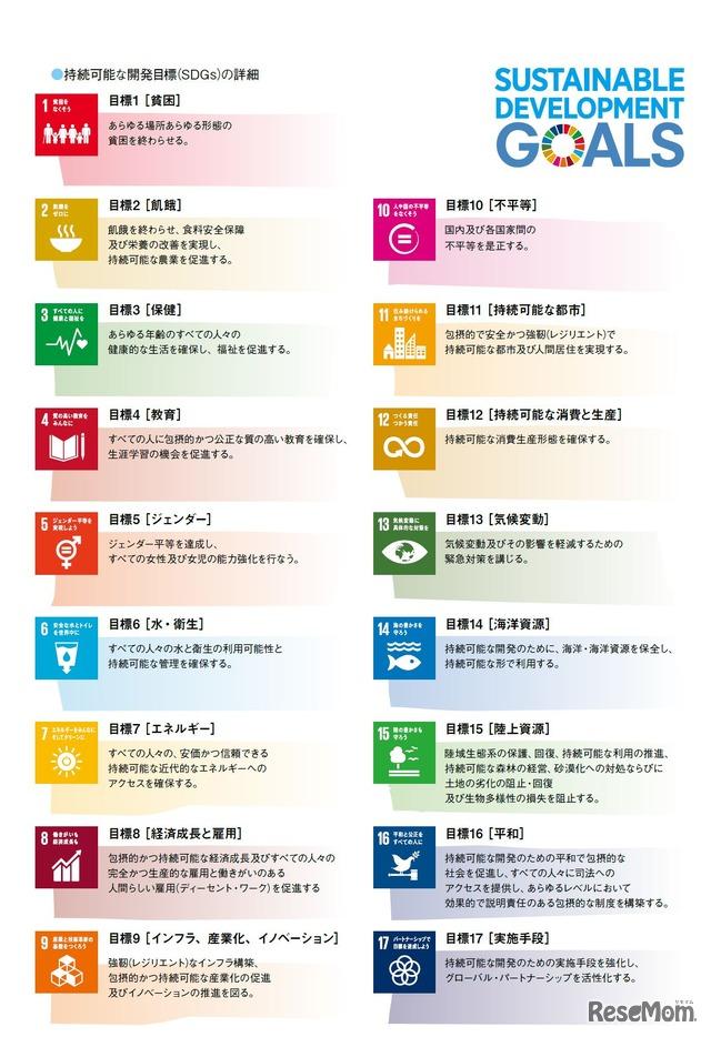 持続可能な開発目標(SDGs)の詳細
