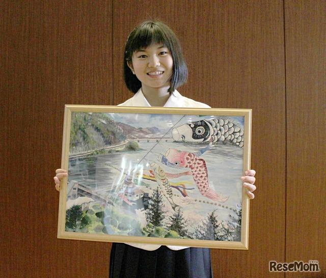 井崎英里さんが描いたこいのぼりの絵
