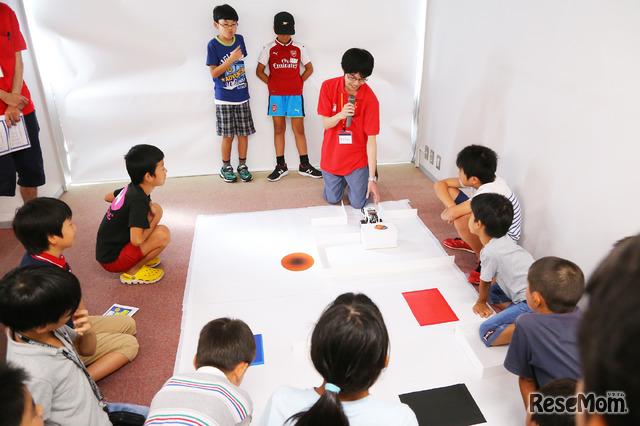 F@IT Kids Club×千葉工業大学プログラミングサマースクール2018のようす/いざ、ロボットを走らせる
