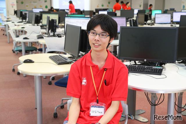 F@IT Kids Club×千葉工業大学プログラミングサマースクール2018のようす/1日目の総司令官はなちゃん