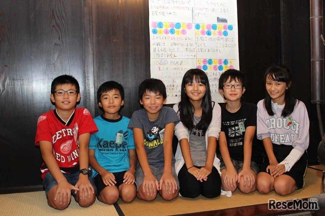 玉屋で発表してくれた、元気いっぱいの6年生たち