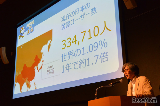 この1年で日本におけるScratchユーザーは約1.7倍に増加