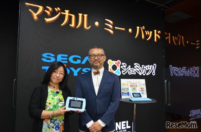 「シュミカツ!×セガトイズ プログラミング教室」講師の甲斐亮氏と相川いずみ氏
