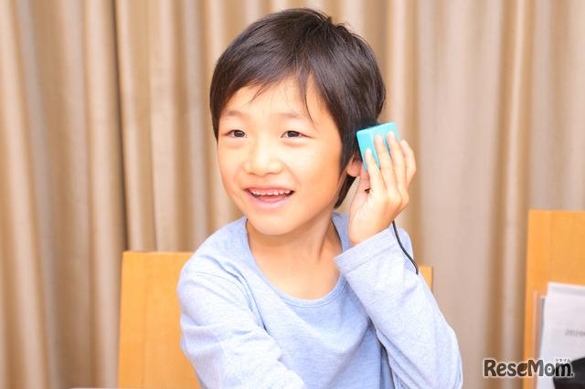 伊藤さんの2年生の息子さん「うまく音が鳴った!」