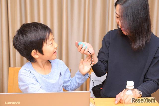 伊藤さんと2年生の息子さん