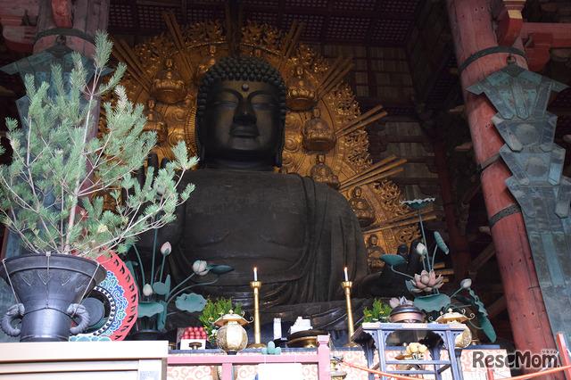 ボランディアガイドさんの案内で見学した東大寺。この企画は多くの方の協力に支えられている