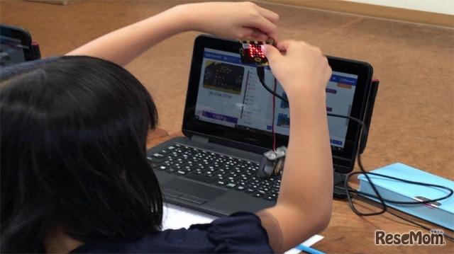 2018年9月実施 千葉大学教育学部附属 小学4年 総合的な学習の時間「方位磁針をつくろう」のようす