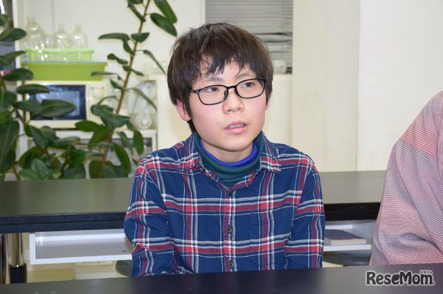 川村望緒君(武蔵中学1年生)