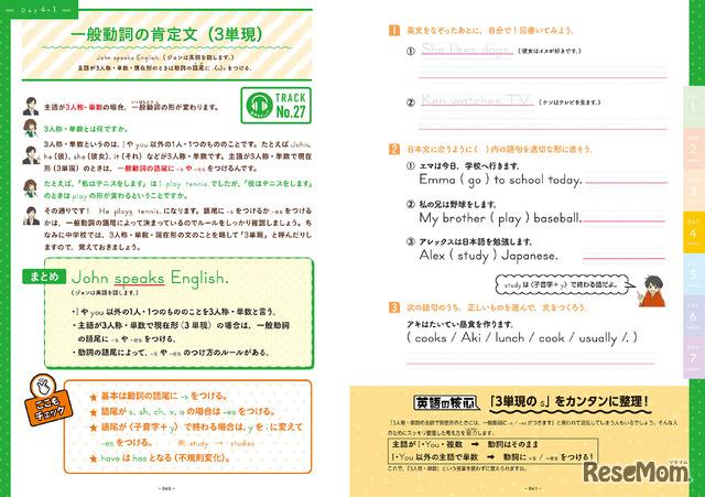 「CD付 中学英語のさきどりが7日間でできる本」(KADOKAWA)より