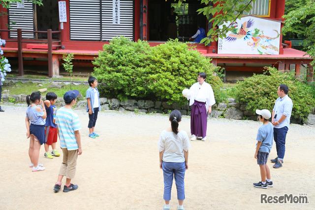 談山神社で蹴鞠体験