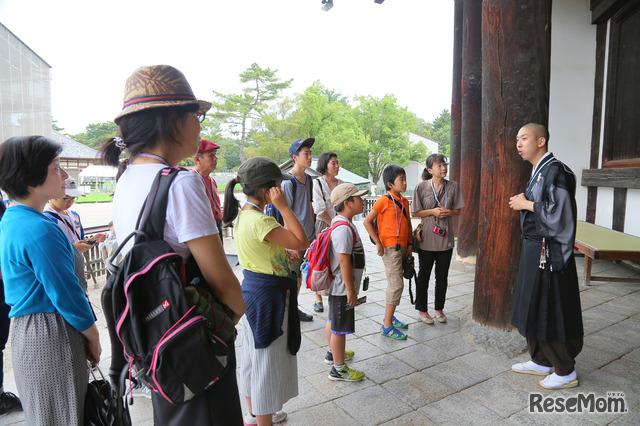 興福寺で僧侶による特別授業