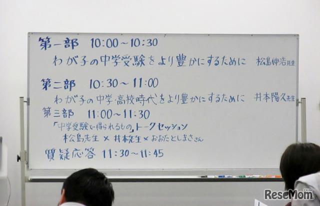 トークセッションは3部構成で実施された