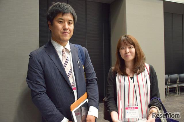 「第1回高大接続総会」東洋高等学校の木下先生と中村先生