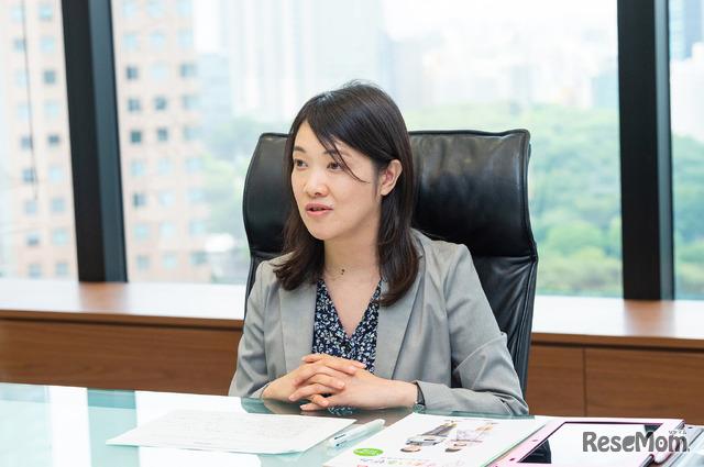 インタビューに応じるジャストシステム・ラーニングイノベーション事業部の鎌田美代氏