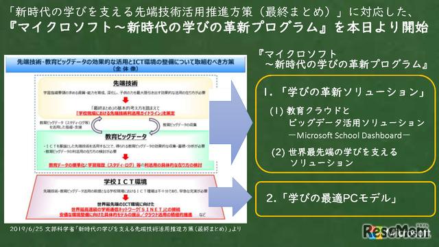 マイクロソフト~新時代の学びの革新プログラム