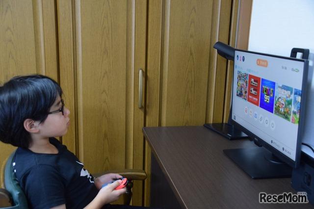 Nintendo Switchなどのゲーム機も手軽に楽しめる。