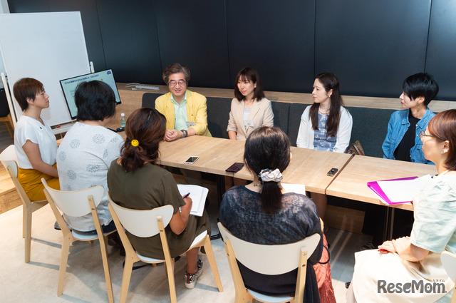 保護者同士、目の健康についての悩みを共有し、先生に相談できる貴重な場