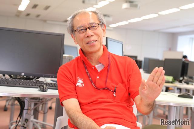 F@IT Kids Club×千葉工業大学プログラミングサマースクール2018のようす/仲林教授
