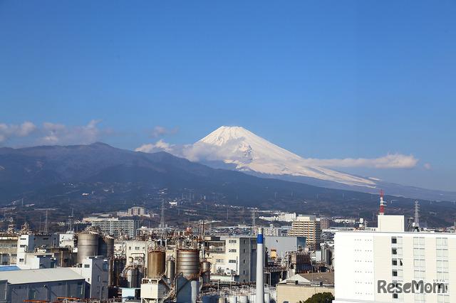 Z会文教町ビルから眺めた富士山